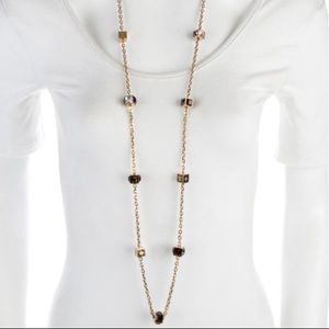 Louis Vuitton Crystal Gamble Station Necklace